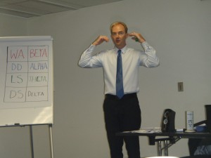 Mindstore Training's Damian McConnell in action