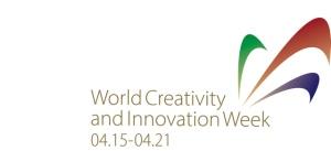 Logo for World Creativity and Innovation week.