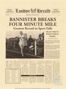 4 min mile roger bannister