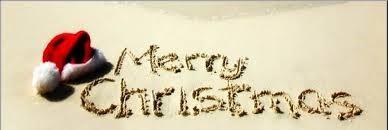 merry xmas in sand
